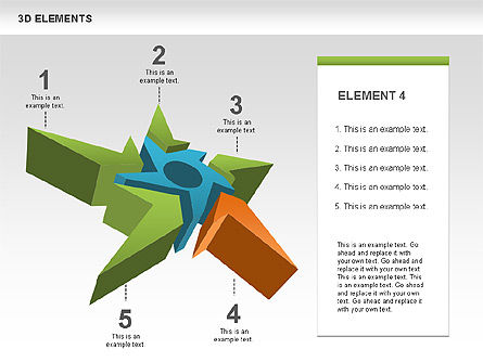 Free 3D Shapes with Stars, Slide 4, 00481, Shapes — PoweredTemplate.com