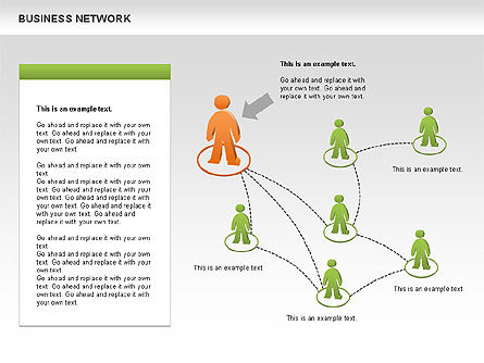 Business Network Diagrams, Slide 10, 00484, Graph Charts — PoweredTemplate.com