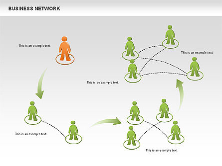 Business Network Diagrams, Slide 3, 00484, Graph Charts — PoweredTemplate.com