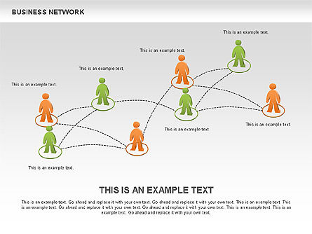 Business Network Diagrams, Slide 9, 00484, Graph Charts — PoweredTemplate.com