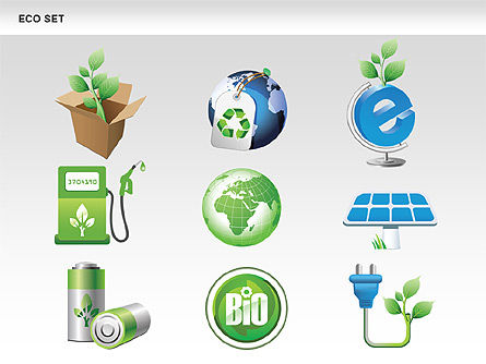 Ecology Shapes, Icons and Diagrams, Slide 15, 00487, Shapes — PoweredTemplate.com
