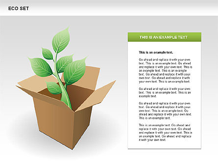 Ecology Shapes, Icons and Diagrams, Slide 9, 00487, Shapes — PoweredTemplate.com