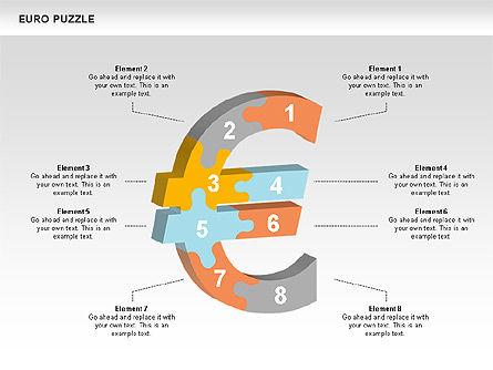 Puzzle Diagrams: Euro diagramas de quebra-cabeça #00488
