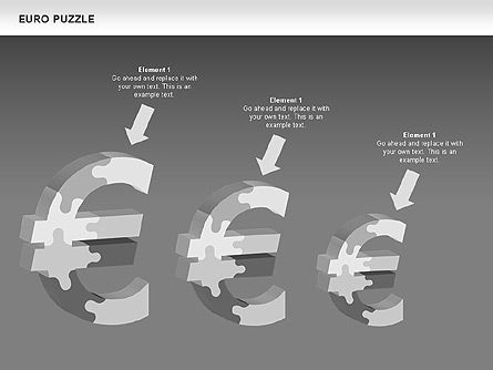Euro Puzzle Diagrams, Slide 12, 00488, Puzzle Diagrams — PoweredTemplate.com