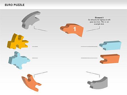Euro Puzzle Diagrams, Slide 2, 00488, Puzzle Diagrams — PoweredTemplate.com