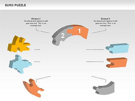 Euro Puzzle Diagrams, Slide 3, 00488, Puzzle Diagrams — PoweredTemplate.com