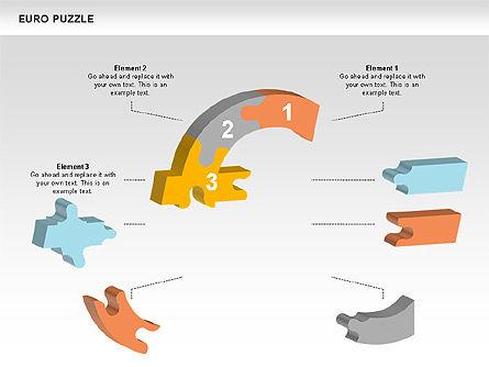 Euro Puzzle Diagrams, Slide 4, 00488, Puzzle Diagrams — PoweredTemplate.com