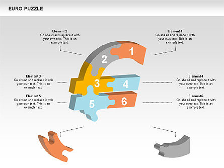 Euro Puzzle Diagrams, Slide 7, 00488, Puzzle Diagrams — PoweredTemplate.com