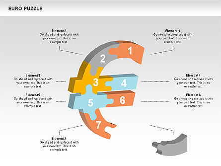 Euro Puzzle Diagrams, Slide 8, 00488, Puzzle Diagrams — PoweredTemplate.com