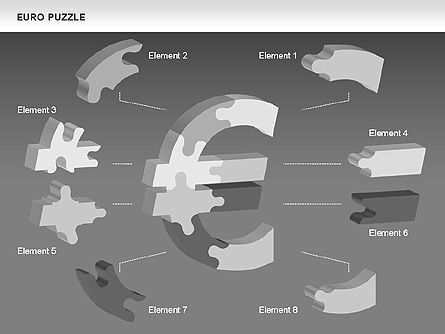 Euro Puzzle Diagrams, Slide 9, 00488, Puzzle Diagrams — PoweredTemplate.com