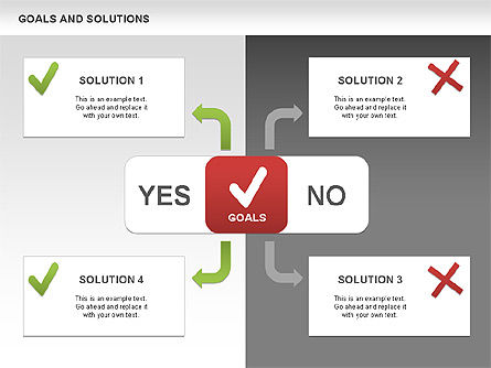 Business Models: Goals and Solutions Charts #00489