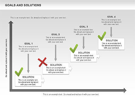 Goals and Solutions Charts, Slide 11, 00489, Business Models — PoweredTemplate.com