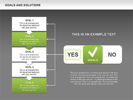 Goals and Solutions Charts, Slide 12, 00489, Business Models — PoweredTemplate.com