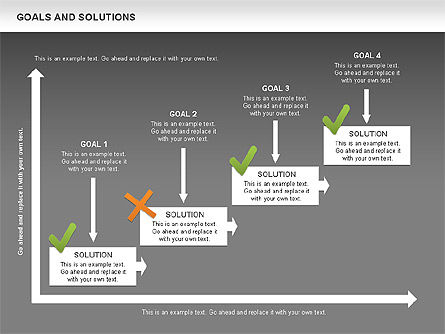 Goals and Solutions Charts, Slide 15, 00489, Business Models — PoweredTemplate.com