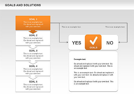 Goals and Solutions Charts, Slide 2, 00489, Business Models — PoweredTemplate.com