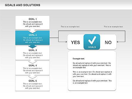 Goals and Solutions Charts, Slide 3, 00489, Business Models — PoweredTemplate.com