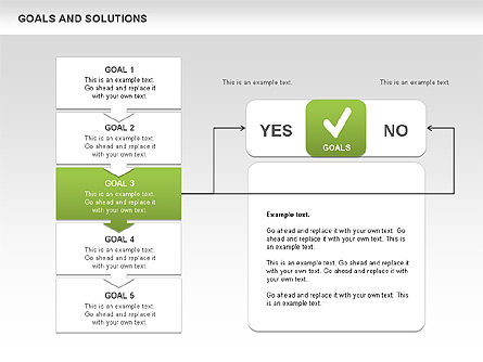 Goals and Solutions Charts, Slide 4, 00489, Business Models — PoweredTemplate.com