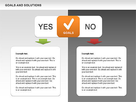 Goals and Solutions Charts, Slide 7, 00489, Business Models — PoweredTemplate.com