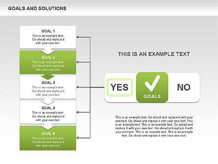 Goals and Solutions Charts, Slide 8, 00489, Business Models — PoweredTemplate.com