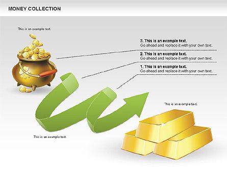 Money Shapes and Icons, Slide 11, 00494, Shapes — PoweredTemplate.com