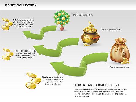 Money Shapes and Icons, Slide 12, 00494, Shapes — PoweredTemplate.com