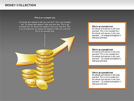 Money Shapes and Icons, Slide 13, 00494, Shapes — PoweredTemplate.com