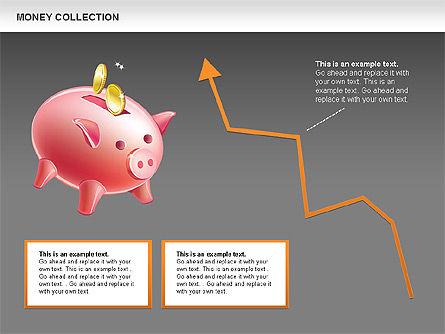 Money Shapes and Icons, Slide 14, 00494, Shapes — PoweredTemplate.com