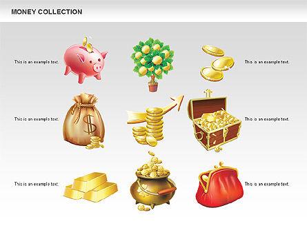 Money Shapes and Icons, Slide 15, 00494, Shapes — PoweredTemplate.com