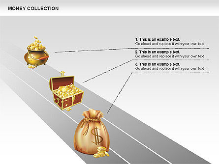 Money Shapes and Icons, Slide 3, 00494, Shapes — PoweredTemplate.com