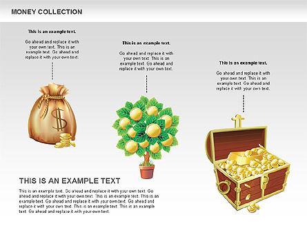 Money Shapes and Icons, Slide 5, 00494, Shapes — PoweredTemplate.com