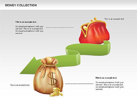 Money Shapes and Icons, Slide 6, 00494, Shapes — PoweredTemplate.com