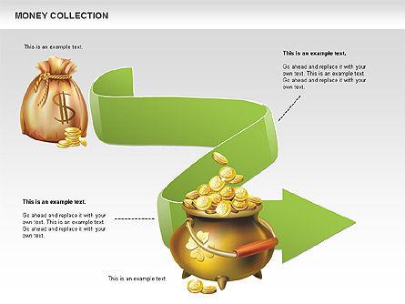 Money Shapes and Icons, Slide 7, 00494, Shapes — PoweredTemplate.com