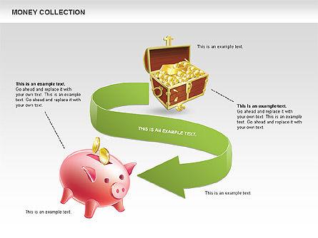 Money Shapes and Icons, Slide 9, 00494, Shapes — PoweredTemplate.com