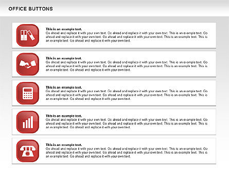 Business Buttons Collection, Slide 12, 00497, Icons — PoweredTemplate.com