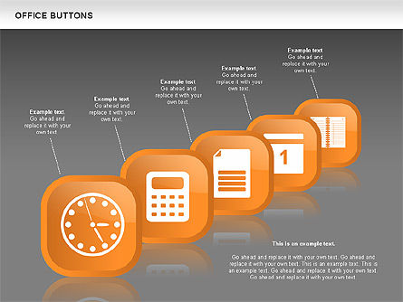 Business Buttons Collection, Slide 14, 00497, Icons — PoweredTemplate.com