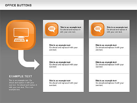 Business Buttons Collection, Slide 15, 00497, Icons — PoweredTemplate.com