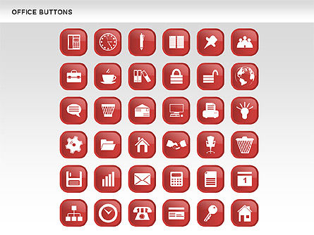 Business Buttons Collection, Slide 16, 00497, Icons — PoweredTemplate.com