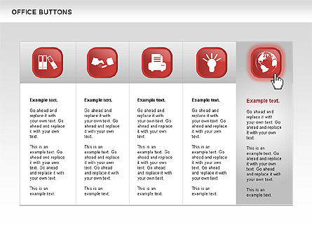 Business Buttons Collection, Slide 7, 00497, Icons — PoweredTemplate.com