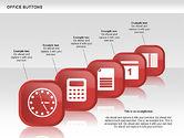Icons: Collection de boutons d'affaires #00497