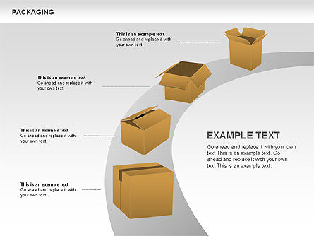 Packaging Diagrams, Slide 12, 00498, Process Diagrams — PoweredTemplate.com
