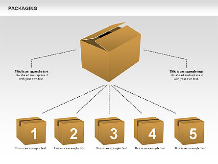 Packaging Diagrams, Slide 3, 00498, Process Diagrams — PoweredTemplate.com