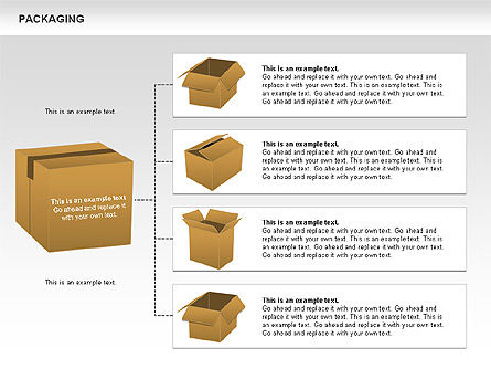 Packaging Diagrams, Slide 4, 00498, Process Diagrams — PoweredTemplate.com