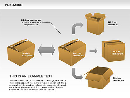 Packaging Diagrams, Slide 5, 00498, Process Diagrams — PoweredTemplate.com