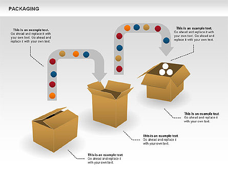 Packaging Diagrams, Slide 7, 00498, Process Diagrams — PoweredTemplate.com