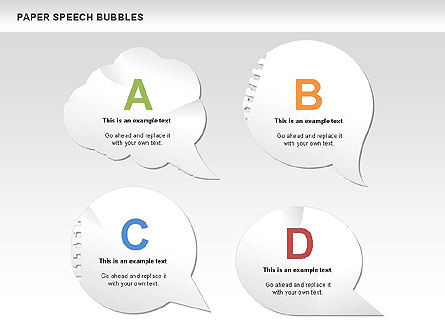 Shapes: Free Paper Speech Bubbles #00499