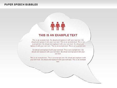 Free Paper Speech Bubbles, Slide 10, 00499, Shapes — PoweredTemplate.com