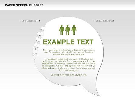 Free Paper Speech Bubbles, Slide 11, 00499, Shapes — PoweredTemplate.com