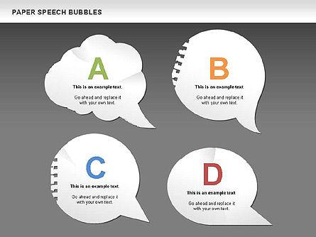 Free Paper Speech Bubbles, Slide 12, 00499, Shapes — PoweredTemplate.com