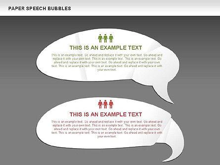 Free Paper Speech Bubbles, Slide 13, 00499, Shapes — PoweredTemplate.com