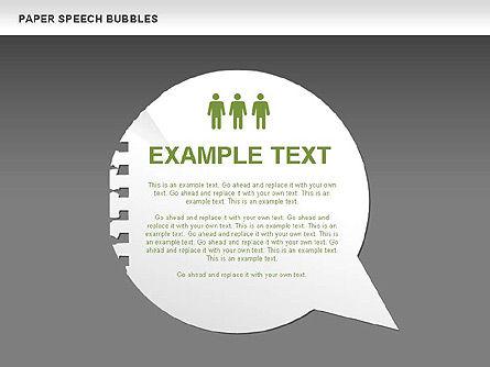 Free Paper Speech Bubbles, Slide 14, 00499, Shapes — PoweredTemplate.com